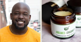 Cory Holmes, founder of Holmes Organics CBD products