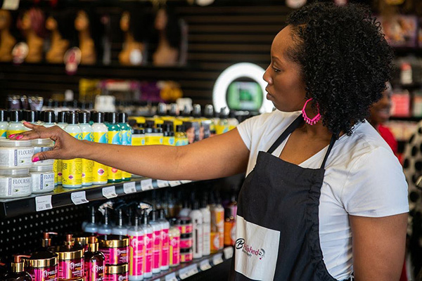 Frankesha Watkins, founder of Bpolished Beauty Supplies