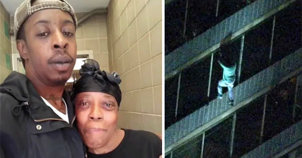 Jermaine, man who climbed 15 stories to save his mom