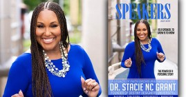Stacie NC Grant on the cover of Speakers Magazine