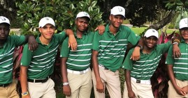 Charles R. Drew Varsity golf team