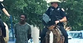 Donald Neely, Black man tied up by police on horses