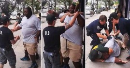 Officer Daniel Pantaleo choking Eric Garner