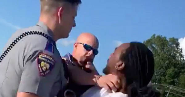 Robert Morton, unarmed Black man being choked by Mississippi Police