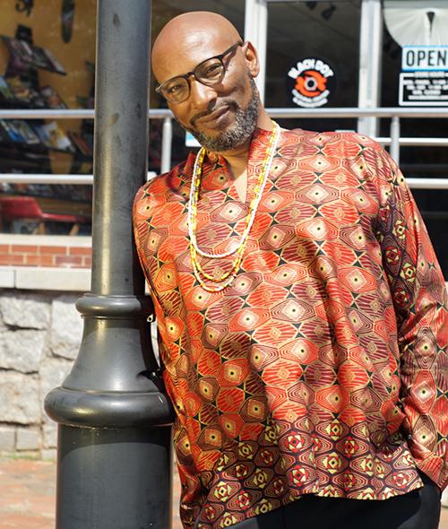 Kazemde Ajamu, founder of the Black Dot Culture and Art Festival
