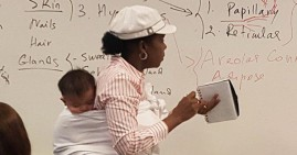 Ramata Cisse, Black professor caring for her student's baby