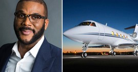 Tyler Perry with private jet