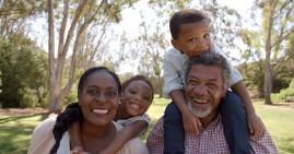 Black parents and grandparents