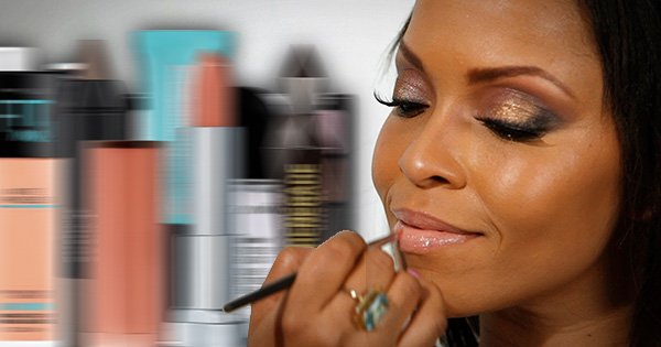 Black woman with free makeup samples