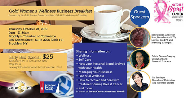 Gold Women's Wellness Business Breakfast