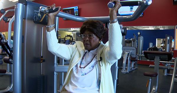 Ida Wheeler, 102-year old Black woman at the gym