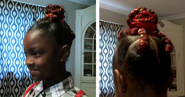 Marian Scott, Black girl denied on school picture day because of her red braids