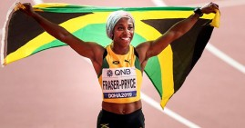 Shelly Ann Fraser Pryce, the fastest woman in the world