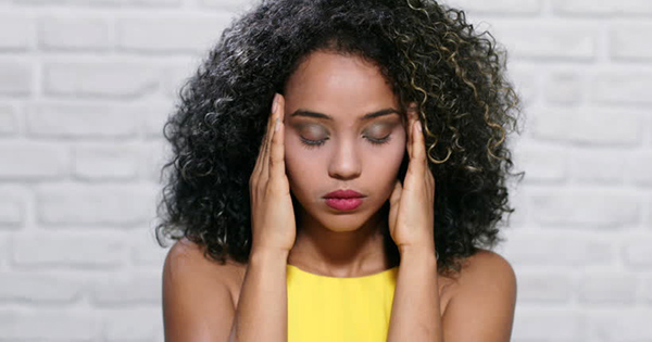 African American woman suffering from anxiety