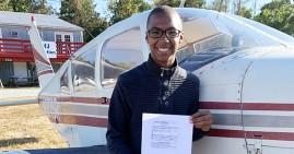William Moore, Jr. - Black teen pilot