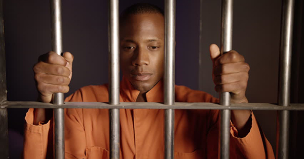 African American inmate thinking