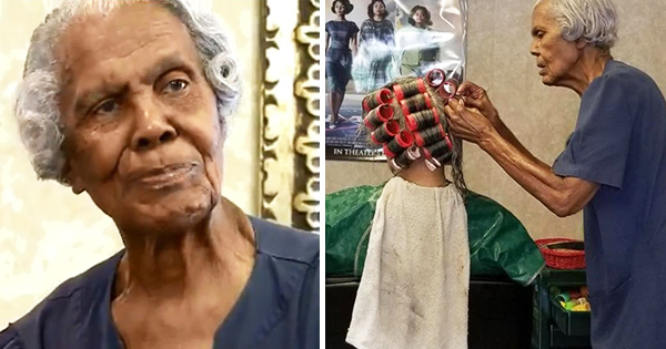 Callie Terrell, 101-year old woman who is a hairstylist