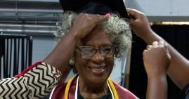 Donzella Washington, 80-year old college graduate