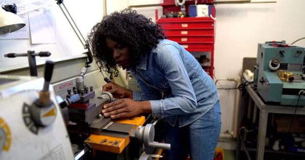 African American woman tradesman