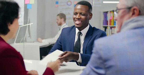 African American man applying for working capital loan