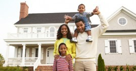 Black family homeowners