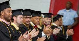 Prisoners graduating from college through the Hudson Link program