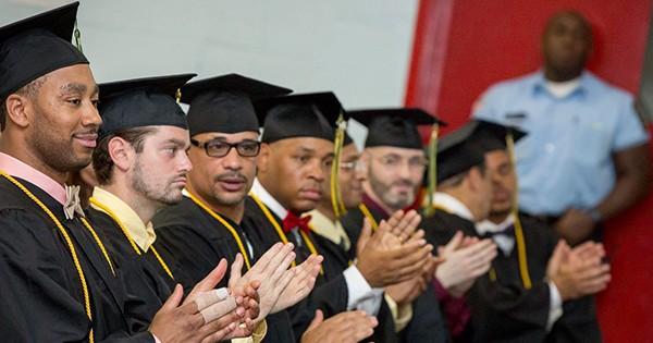 Prisoners graduating from college through the Hudson Link program