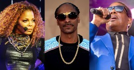 Janet Jackson, Snoop Dogg and Charlie Wilso