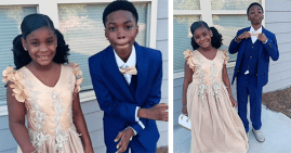 Skylar and Christian, a brother and sister going to their school's father-daughter dance