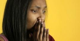 Black woman sad about stimulus check
