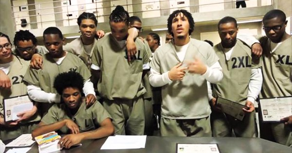 Inmates at Chicago's Cook County Jail