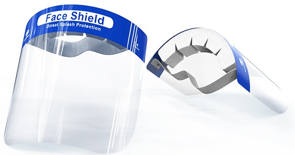 PET face shields from China