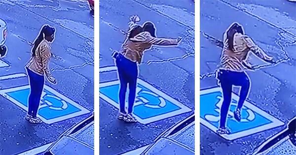 Kayallah Jones, homeless woman dancing after job interview