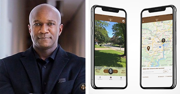 James Samuel, founder and CEO of the Anjel Tech app